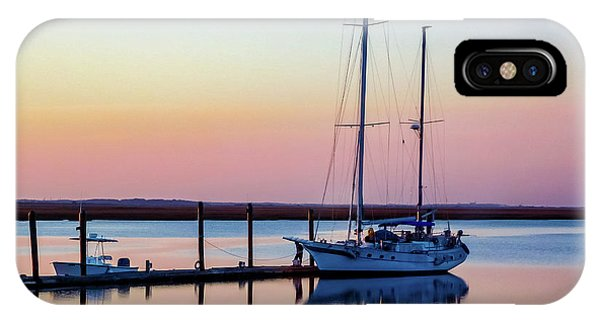 Docked On Jekyll Island IPhone Case