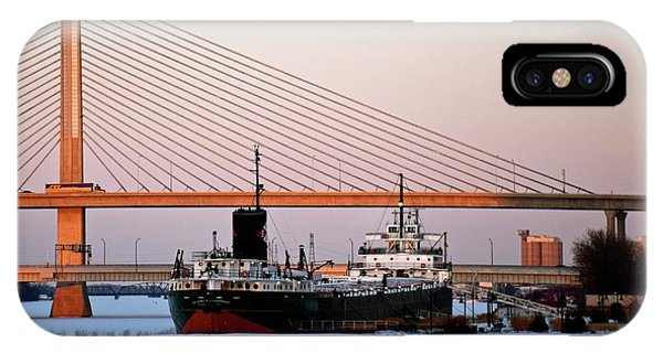 Docked Under The Glass City Skyway  IPhone Case