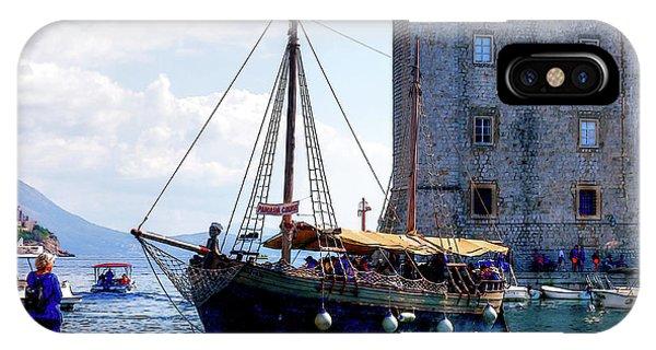 Docking In Dubrovnik Harbour IPhone Case