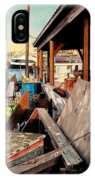 Docks At Port Aransas IPhone Case
