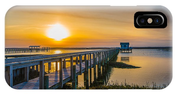 Docks At Sunset I IPhone Case