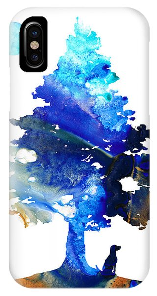 Dog Art - Contemplation - By Sharon Cummings IPhone Case