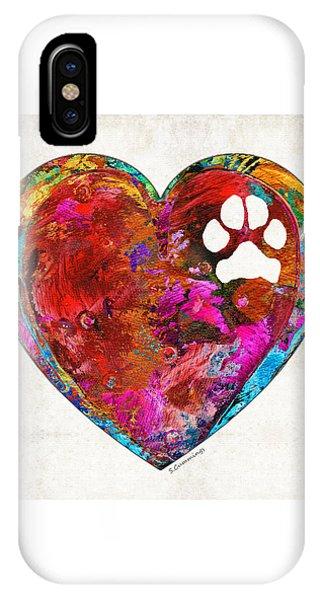 Dog Art - Puppy Love 2 - Sharon Cummings IPhone Case
