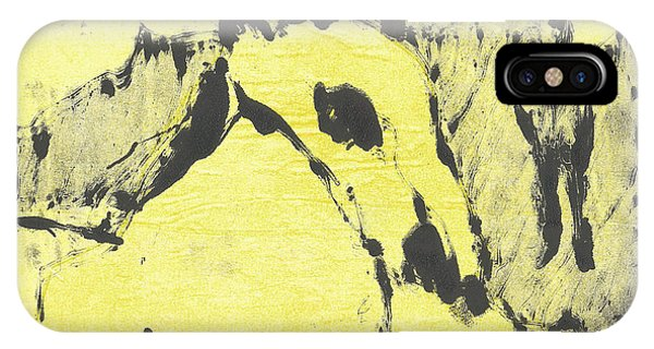 Dog At The Beach - Black Ivory 3 IPhone Case