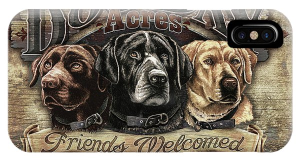 Dog Day Acres Sign IPhone Case