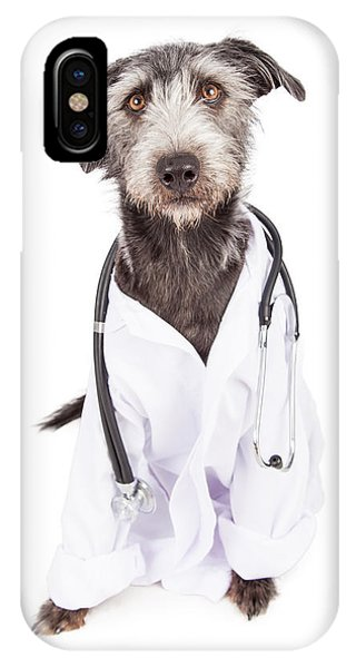 Dog Dressed As Veterinarian IPhone Case