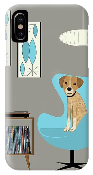 Dog In Egg Chair IPhone Case