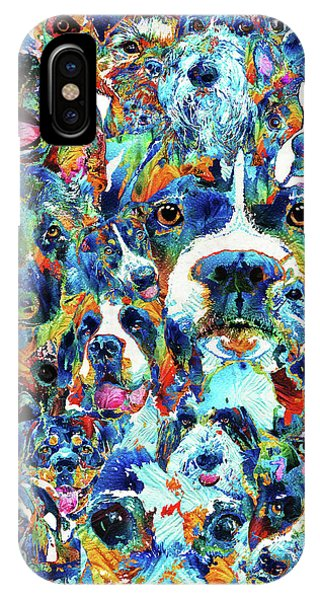 Dog Lovers Delight - Sharon Cummings IPhone Case