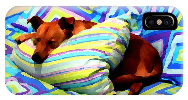 Dog Nap - Oil Effect IPhone Case