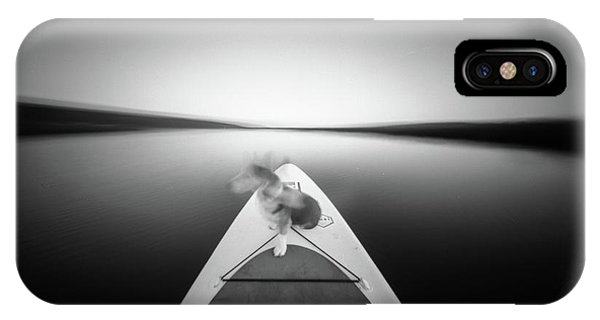 IPhone Case featuring the photograph Dog On Sup - Pinhole Photo by Will Gudgeon