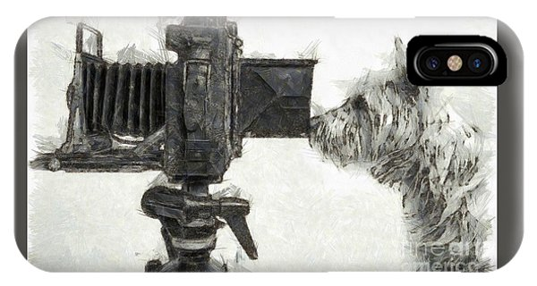 Dog Photographer Pencil IPhone Case