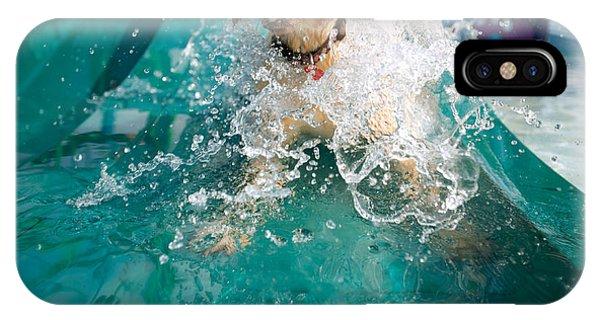 Prairie Dog iPhone Case - Dog Splashing In Water by Gillham Studios