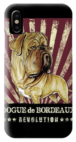 Caricature iPhone Case - Dogue De Bordeaux Revolution by John LaFree