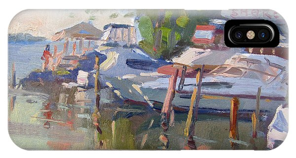 Docked Boats iPhone Case - Docks At The Shores  by Ylli Haruni