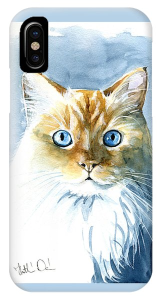 Doll Face Flame Point Himalayan Cat Painting IPhone Case