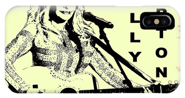 Dive iPhone Case - Dolly Parton Graffiti Poster by Dan Sproul
