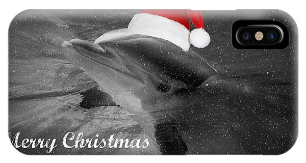 Dolphin Christmas IPhone Case