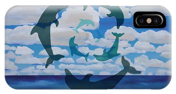 Dolphin Cloud Dance IPhone Case
