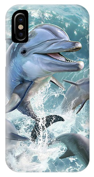 Dolphin iPhone Case - Dolphin Jump by Jerry LoFaro