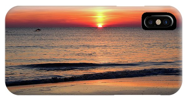 Dolphin Jumping In The Sunrise IPhone Case