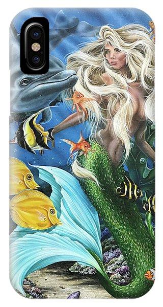 Dolphin Mermaid IPhone Case