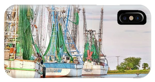 Dolphin Tail - Docked Shrimp Boats IPhone Case