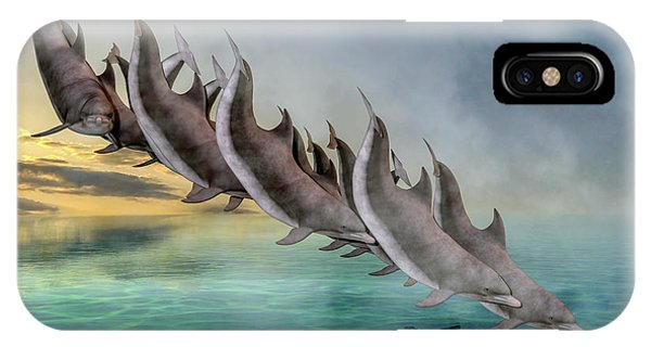 Carribbean iPhone Case - Dolphins by Betsy Knapp