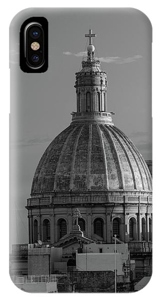Dome Of Our Lady Of Mount Carmel In Valletta, Malta IPhone Case