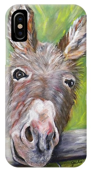 Wheeler Farm iPhone Case - Dominic The Donkey by JoAnn Wheeler