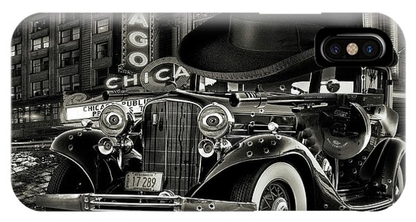 Chicago Art iPhone Case - Don Cadillacchio Black And White by Marian Voicu