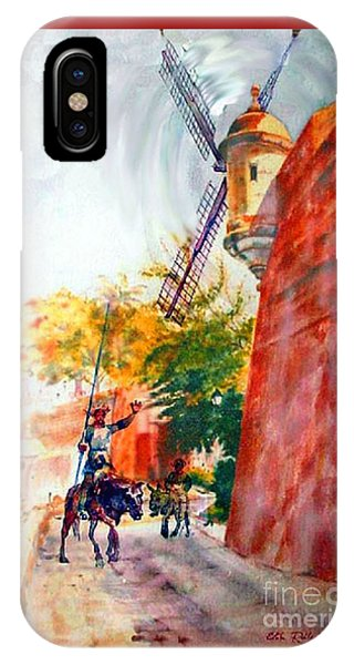 Fort iPhone Case - Don Quixote In San Juan by Estela Robles