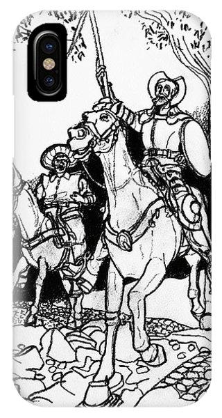 iPhone Case - Don Quixote by Rich Travis