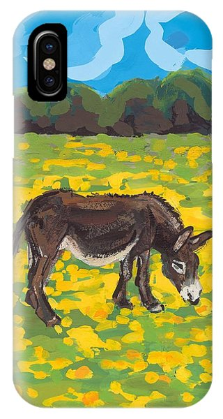 Donkey And Buttercup Field IPhone Case