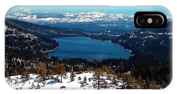 Donner Lake Sierra Nevadas IPhone Case