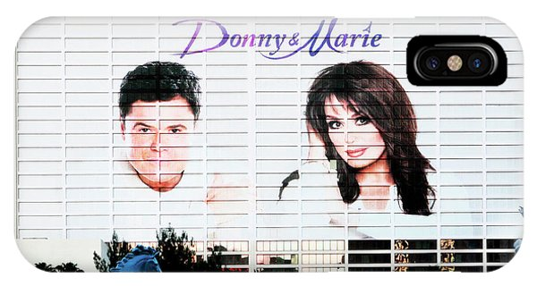 Donny And Marie Osmond Large Ad On Hotel IPhone Case