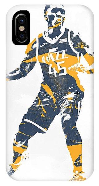 Tickets iPhone Case - Donovan Mitchell Utah Jazz Pixel Art 10 by Joe Hamilton