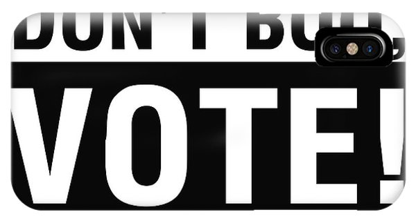Don't Boo Vote- Art By Linda Woods IPhone Case