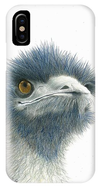 IPhone Case featuring the drawing Dont Mess With Emu by Phyllis Howard