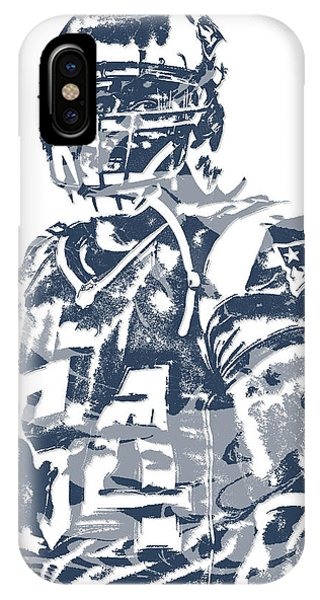 Donta Hightower New England Patriots Pixel Art 1 IPhone Case