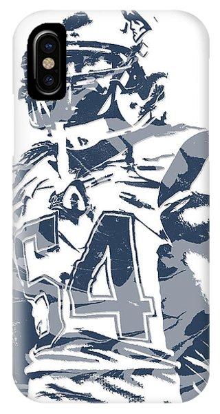 Donta Hightower New England Patriots Pixel Art 2 IPhone Case