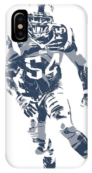 Donta Hightower New England Patriots Pixel Art 3 IPhone Case