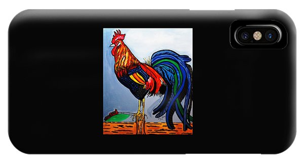 Doodle  Dum  Rooster IPhone Case