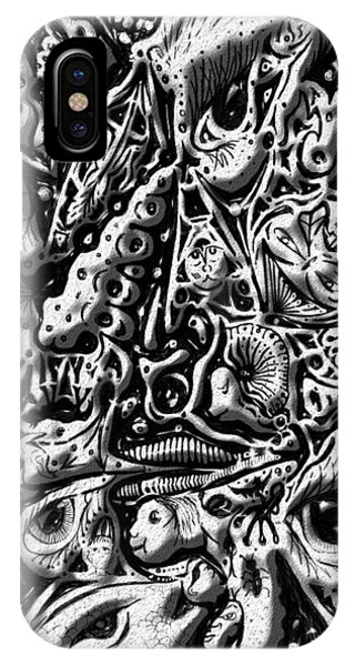 IPhone Case featuring the digital art Doodle Emboss by Darren Cannell