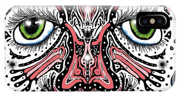 Doodle Face IPhone Case
