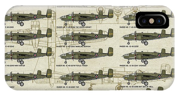 Uss Hornet iPhone Case - Doolittle Raiders Poster by Tommy Anderson