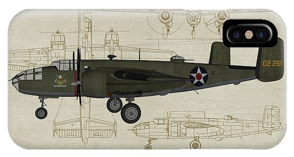 Uss Hornet iPhone Case - Doolittle Raiders - Ruptured Duck Profile by Tommy Anderson