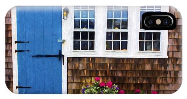 Blue Door - Doors And Windows Series 01 IPhone Case