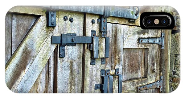 Doors At Caerphilly Castle IPhone Case