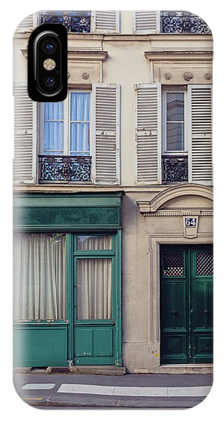 IPhone Case featuring the photograph Paris Doors No. 64 by Melanie Alexandra Price