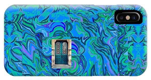 Doorway Into Multi-layers Of Water Art Collage IPhone Case